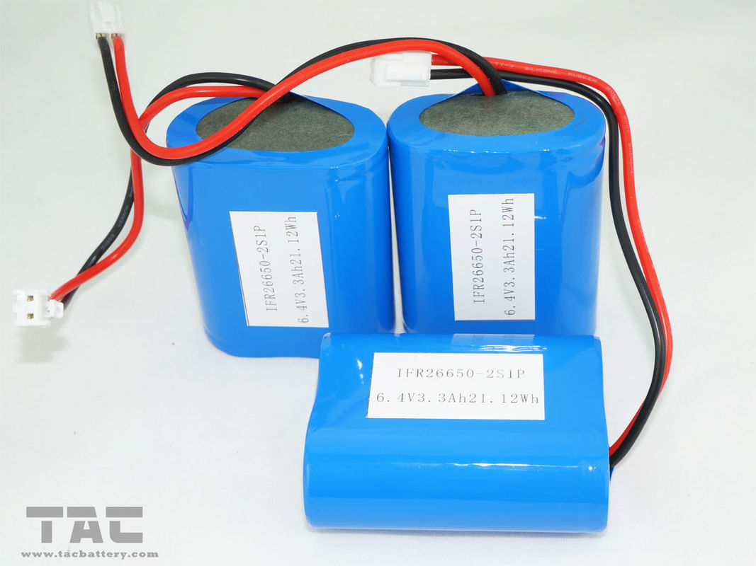 High Capacity 6.4v  3.3AH 3.2V LiFePO4 Battery Pack / Lithium ion Solar Battery