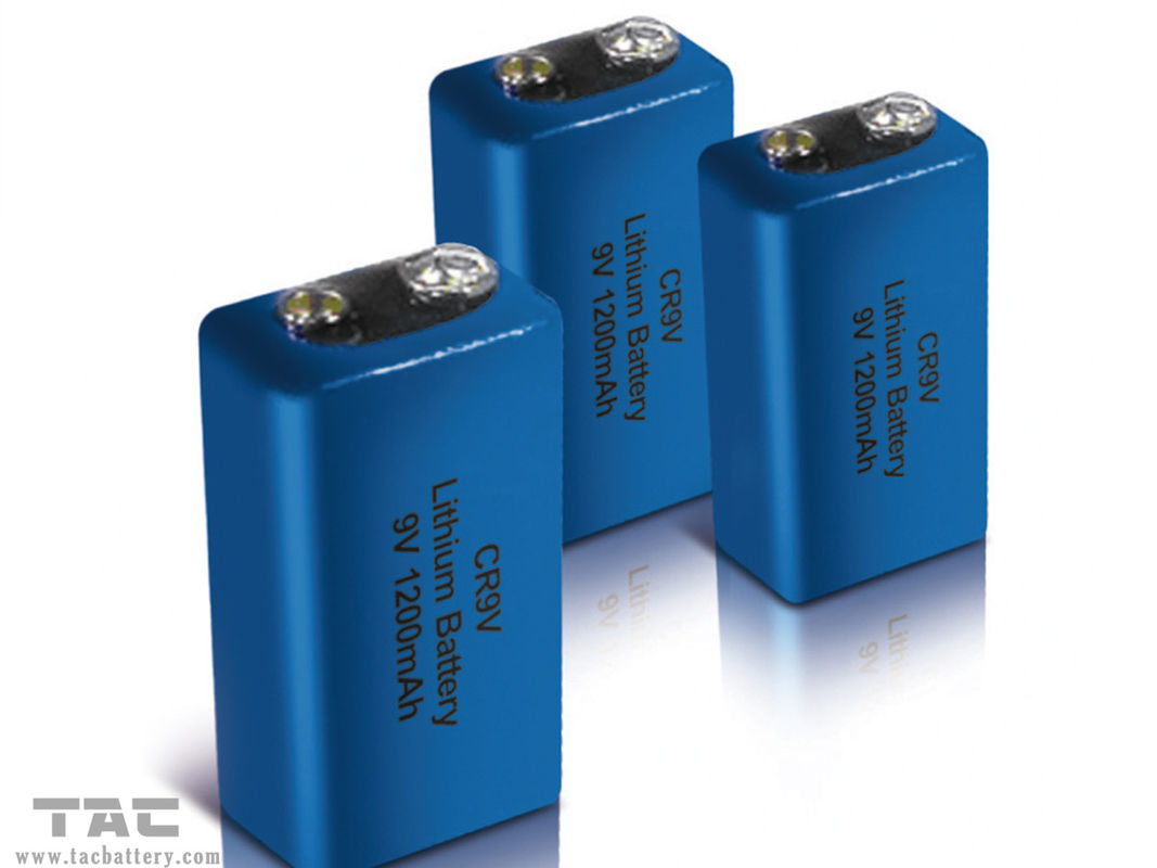 Light weight Blue CR9V Lithium Battery 1200mAh For Smoke Alarm System