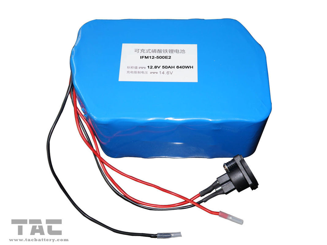 12V LiFePO4 Battery Pack  f'or Street Lamp  IFR 26650 50ah With Connector