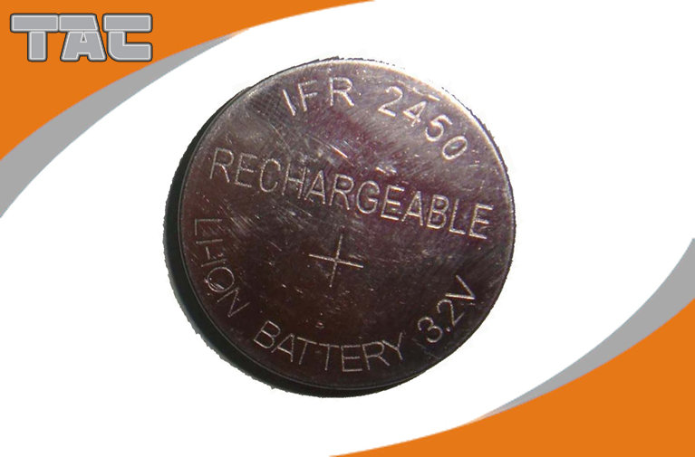 Rechargeable Lithium Coin Cell Battery LFR2450 80mAh 3.2V For IOT Domain