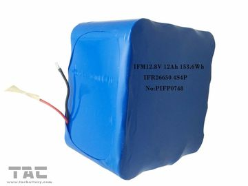 الصين IFM12.8V 12Ah LiFePo4 Battery Pack 26650 4S4P For Solar Street Light مصنع