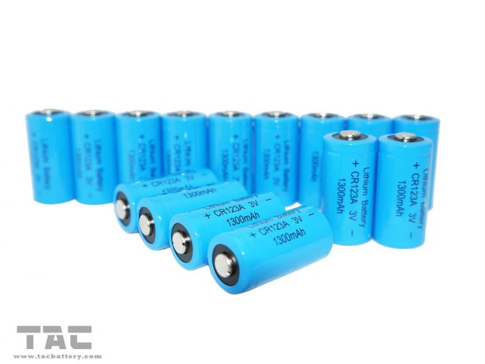 CR123A Primary Lithium LiMnO2 Battery 1300 mAh with High Energy Density